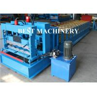 China Trapezoid Roof Tile Roll Forming Machine YX1100 Russian Type PPGI Material on sale