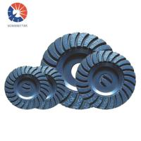 China diamond cutting tools 6 150mm turbo row waved spiral grinding disc cup wheel for concrete floor Manufactures