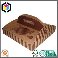 Custom Brown Color Printed Pizza Box with Handle; Food Grade Paper Pizza Box Manufactures