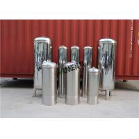 SS304 Stainless Steel Filter Housing / Water Mechanical Active Carbon Filter Vessel Manufactures