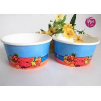 12oz Disposable Ice Cream Cups , custom printed ice cream containers Manufactures