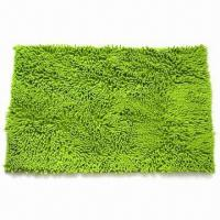 Microfiber chenille bath mat, new backing-coated Manufactures