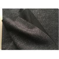 Double Sided Wool Fabric HongKong Style , Black Suit Wool Fabric Cold Protection Manufactures