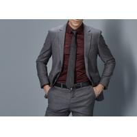 Cotton Formal Male Grey 2 Piece Suit Two Straight Pockets S--XXXL Size Regular Fit Manufactures