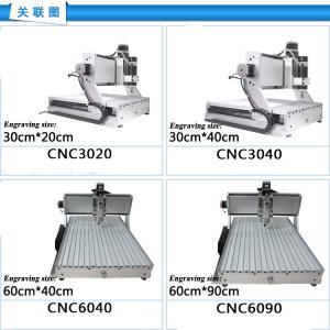 CNC Router CNC6040/CNC 6040/ CNC 4060/ cnc engraving machine/ 220V&110V drilling/ milling Manufactures