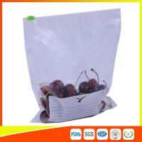 Zipper Top Plastic Food Storage Bags With Slider , Airtight Storage Ziplock Bags Manufactures