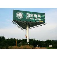Outdoor Advertising Signs Three Sided Billboard With Steel Web Frame Structure Manufactures