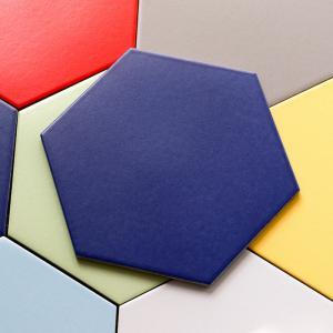 Colored Glaze Hexagon Ceramic Tile Kitchen Bathroom Hex Mosaic Floor Tile Manufactures