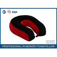 Red And Black Neck Support Memory Foam Pillow U Shaped Travel Pillow For Sleeping Manufactures