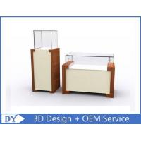 Rectangle Square Jewelry and Exhibit Pedestal Display Case Brown + white Color Manufactures