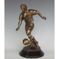 China Polyresin Soccer Trophy on sale