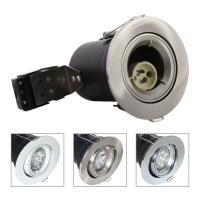 China GU10 Aluminium Centre Tilt LED Fire Rated Downlight - Satin Nickel Color Manufactures