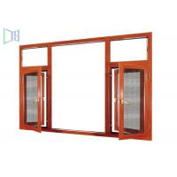 Extruded Aluminium Casement Windows Heat Insulation With 1.0 - 1.4mm Thickness Profile