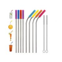 Food Grade Flexible Silicone Tubing Straw Sleeve Tip Round Shape FDA SGS Certificated Manufactures