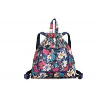 China Full Printing Foldable Custom Made Drawstring Bags With Adjustable Strap For School on sale
