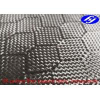 Honeycomb / Hexagon Pattern 3K Carbon Black Fiber Jacquard Fabric Manufactures