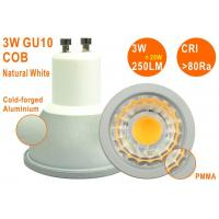 Epistar COB 3W 250LM Natural White High CRI Non-dimmable GU10 LED Spotlight Manufactures