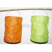 Spring Lampion Paper Lanterns Craft , Outdoor Hanging Paper Candle Lanterns 10 X 15 Cm Manufactures