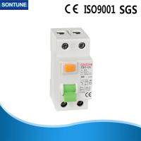 China Double Pole White RCCB Circuit Breaker AC Type 300ma Plastic Texture on sale