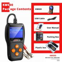 China Free Upgrade System Car Battery Tester KONNWEI KW600 Black With Printer Launch on sale