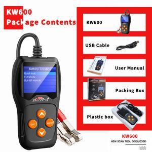 Long Lifespan Car Battery Tester KONNWEI KW600 XP WIN7 WIN8 WIN10 System Manufactures