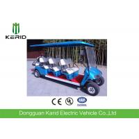 48V/4KW DC Motor Electric 8 Seater Golf Buggy Battery Operated Blue Color Manufactures