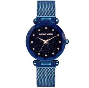China HM-D6 Luxury Rose Gold Women Watches Fashion Diamond Ladies Starry Sky Magnet Watch Waterproof Female Wristwatch on sale