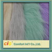 83% Acrylic 17% Polyester High Pile Faux Fur Fabric For Garment And Funiture Manufactures