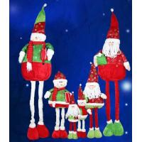 Large Santa Doll and Snowman With Streaching Leg Christmas Holiday For Celebrate Party Manufactures