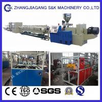 Full Automatical PVC Pipe Extrusion Machine , PVC Pipe Extruder Production Line Manufactures