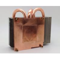 Quality 120W Copper Base Plate Aluminum Fin Copper Pipe Heat Sink For CPU Cooling for sale