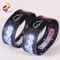 Customised Print Stretch Plicated Fabric Elastic RFID Wristband Manufactures