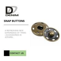 China Brass Custom  On Snap Buttons For Overcoat Down Jacket / Cotton - Padded Clothes on sale