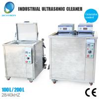 Stainless Steel Industrial Ultrasonic Cleaning Equipment With 500 Liter Capacity Manufactures