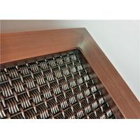 China Pre - Crimped Woven Architectural Wire Mesh Panels With Versatile Spine Frame for sale
