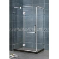 90 Degree Magnetic Seals Shower Screens Tempered Glass SS Support Bar and Hinge Swing Door Manufactures