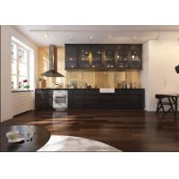 Solid Wood Modern Kitchen Cabinets 18mm MFC Borad Aluminium Profile Handle Manufactures