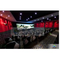 Large High Definition 4D Movie Theater Motion Chair With Arc Screen Manufactures
