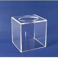 China Acrylic Storage Boxe , Clear Acrylic Suggestion Box 5mm x 150mm x150mm on sale