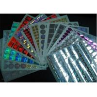 China Permanent Glossy Waterproof Holographic Security Stickers With Multicolor on sale