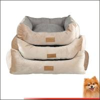 large dog beds for sale manufacturers Stripes short plush pp cotton pet bed china factory Manufactures