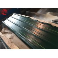 Astm A653 Corrugated Roof Sheets With Zinc Coating 40 - 200g / M2 Roof Manufactures