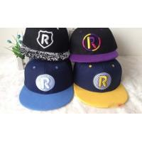 Unisex Anti - Pilling Snapback Baseball Caps With Star Strips 50cm - 62cm Manufactures