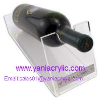 Bottle Display Plexiglass Cutting Clear Acrylic Wine Holder For Restaurant With SGS Standards Manufactures