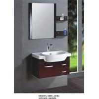 China Red grape wine square type Solid Wood Bathroom Cabinet custom made on sale