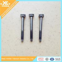 China Gr5 knurling head titanium screws and bolts on sale