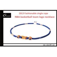 China Hard , Rusty Customized Titanium Braided Rope Necklace Colorful For Baseball Team on sale