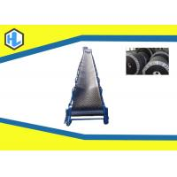 China 5m - 20m Conveying Length Inclined Cleated Belt Conveyor Adjustable Lifting Height on sale
