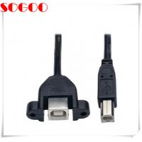 China USB 2.0 Hi Speed Panel Mount Cable With B M To Panel Mount B F Connector on sale