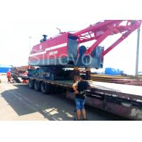 Red Color Low Ground Pressure Hydraulic Crawler Mounted Crane For Chemical Industry for sale